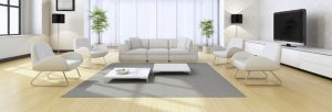 Light and open living space focused on the couch, how to find your dream home?