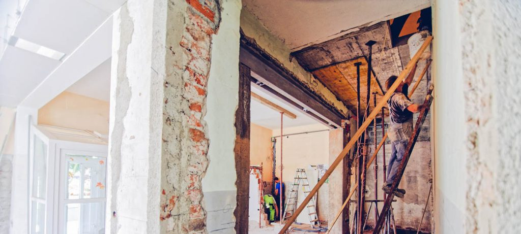 Inside of a building in renovation, renovation project or new build how do you decide?
