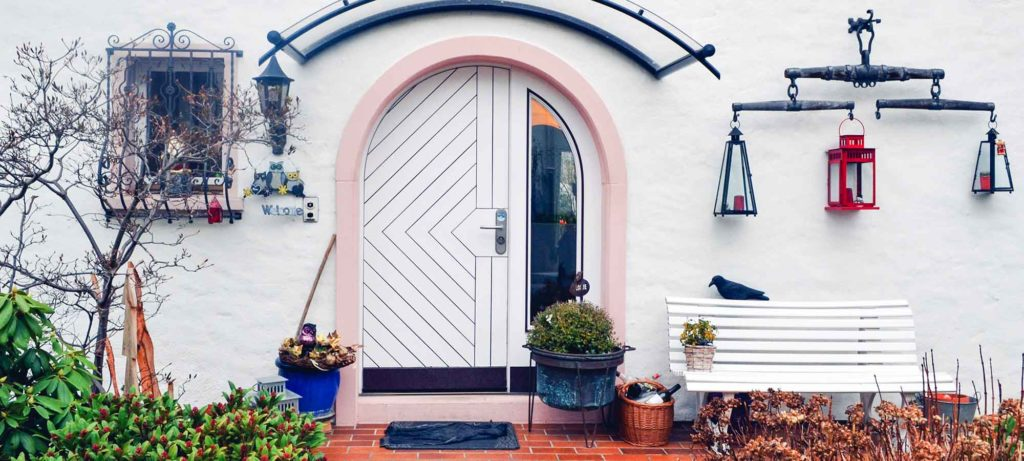 pretty colourful house entrance