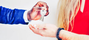 Overhandiging van de sleutels van een woning