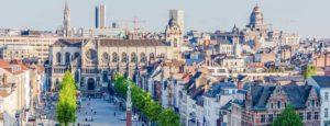 Saint Catherines church city skyline, big survey on real estate after coronavirus