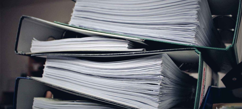 Batch books documents, paperwork to rend a house