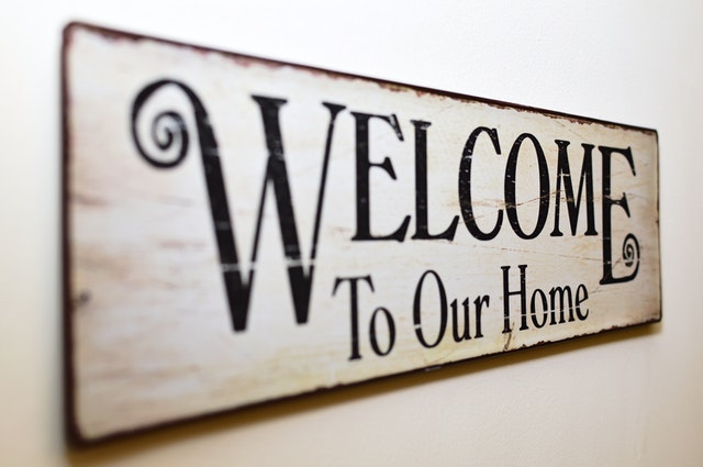 Welcome to our home bord
