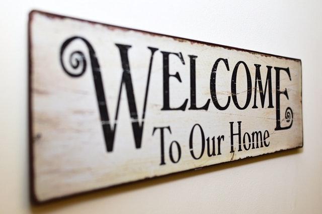 Welkom thuis-bordje