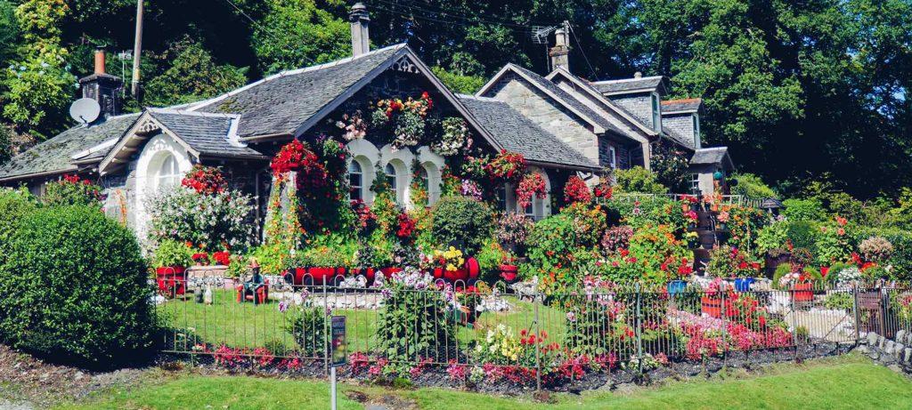 magnifique jardin floral au printemps