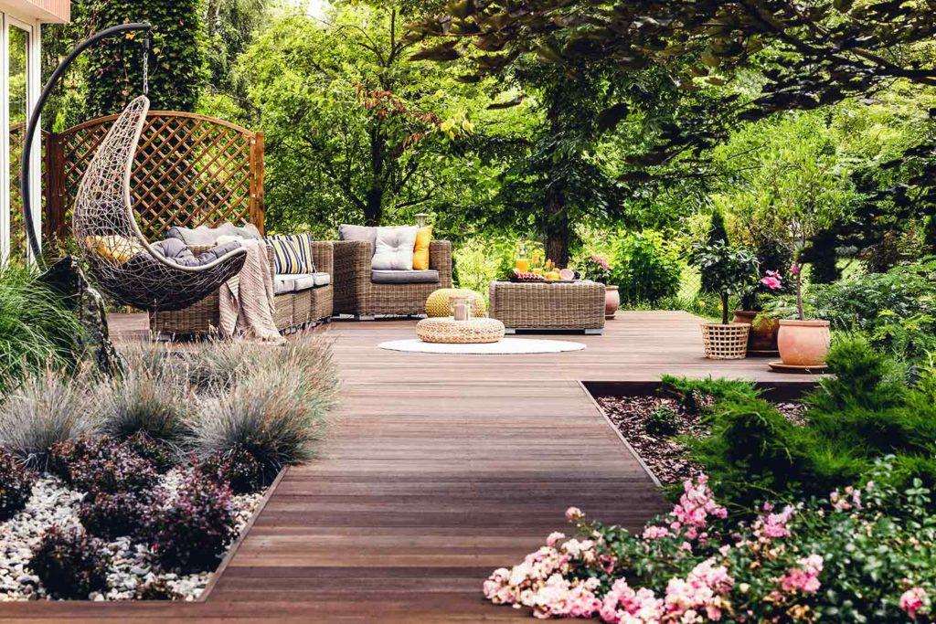 amenager sa terrasse avec de la verdure